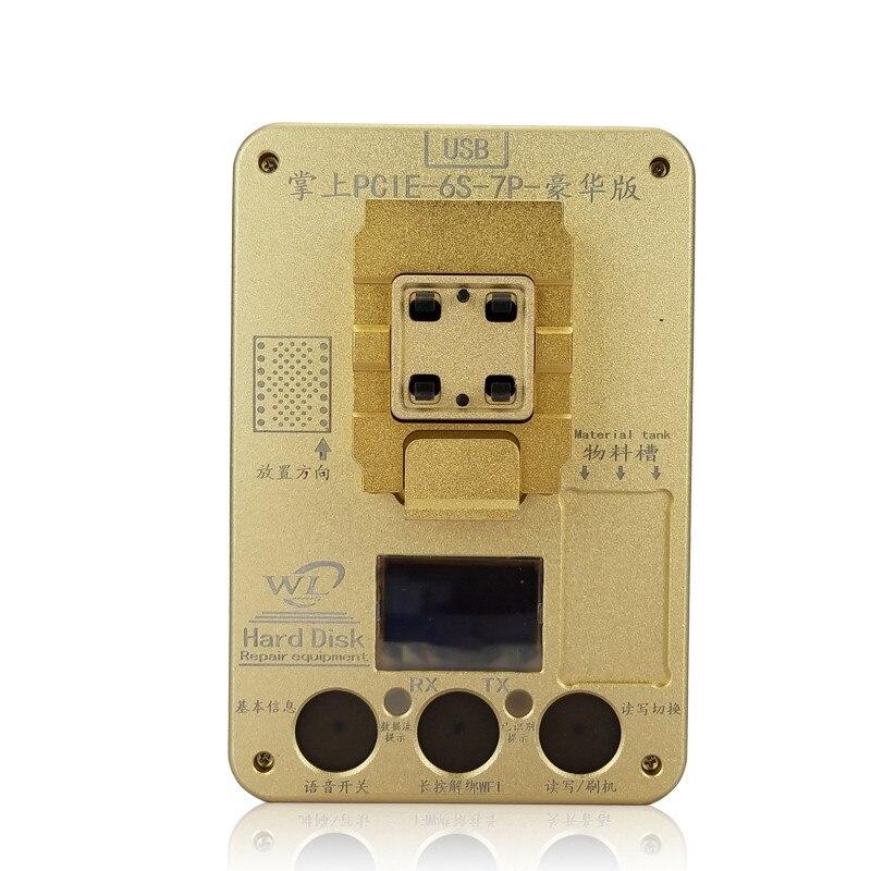 WL PCIE Flash NAND programador SE adapta para iPhone 6S 6S más 7 7Plus placa base de ensayo