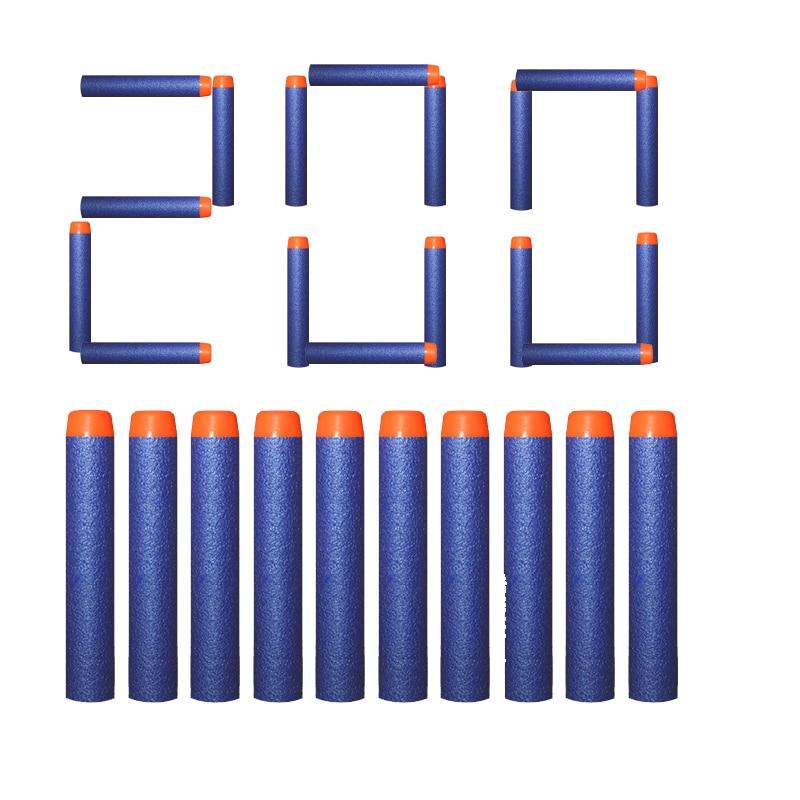 200pcs Refill Darts For Nerf Bullets Soft Hollow Hole Head 7.2cm Refill Darts Toy Gun Bullets Blasters Kids Guns Accessories