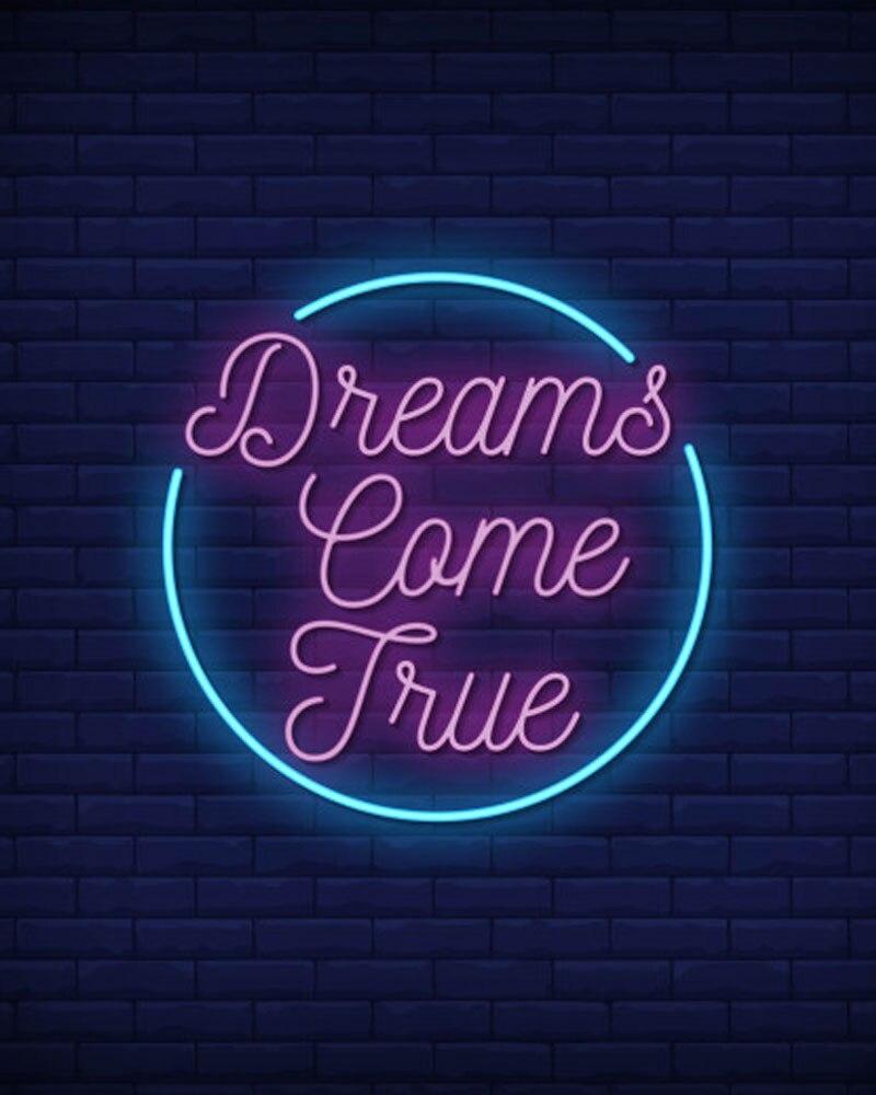 ديكور ضوء الأحلام تأتي حقيقية ضوء النيون مطعم اكسسوارات غرفة نوم أضواء للفنادق Enseigne Lumineuse أنابيب الزجاج اليدوية