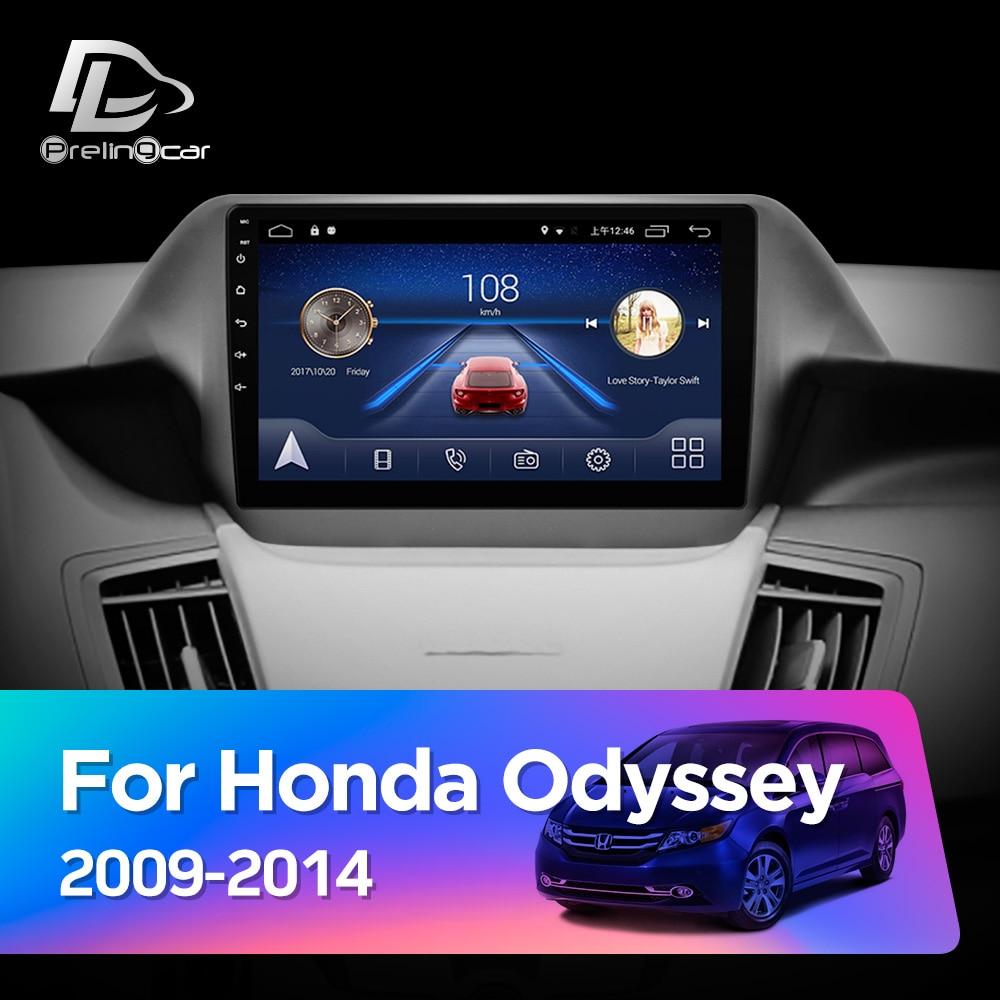 Prelingcar Android 10 NO DVD 2 Din autoradio multimédia lecteur vidéo Navigation GPS pour HONDA Odyssey 2009-2014 octa-core IPS