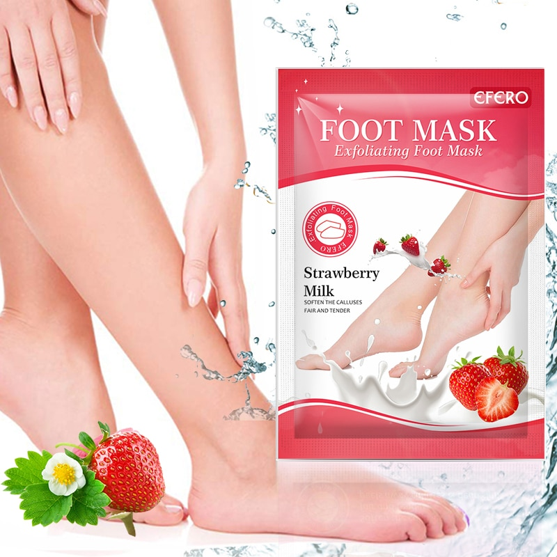 30pairs Exfoliating Foot Masks Pedicure Socks Strawberry Milk Exfoliation for Feet Mask Remove Dead Skin Heels Foot Peeling Mask 4 pairs exfoliating foot mask sock pedicure socks exfoliation for feet mask heels foot peeling remove dead skin mask for legs