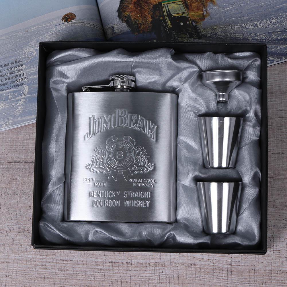 Portable Pocket Stainless Steel Hip Flask 7oz Wine Mug Whiskey Bottle With Box Mini Drinkware Alcohol Bottle For Men Gifts new