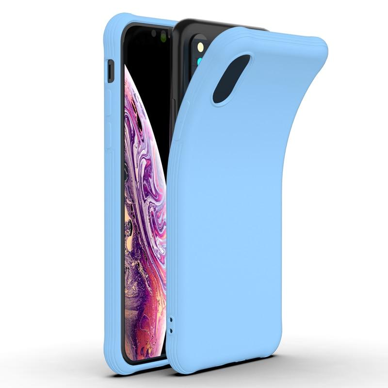 Мягкий ударопрочный чехол из ТПУ для iPhone X XR iPhone 7 8, Тонкий силиконовый чехол-накладка для Apple iPhone XS MAX