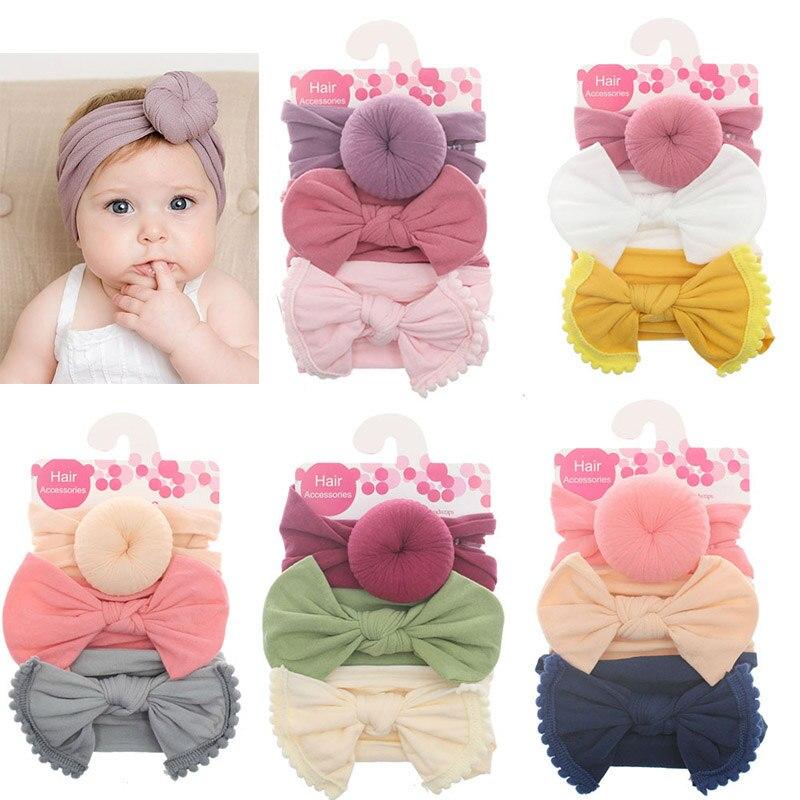 3 pçs/lote verão nova menina do bebê headbands flor arcos floral recém-nascidos acessórios para o cabelo do bebê bandana macio náilon elástico haarband