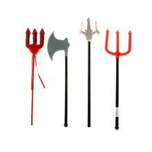 2020 armas Cosplay Props tenedor diablo doble filo Axe rojo Trigeminal lentejuelas diablo varita mágica fiesta de Halloween decorativo