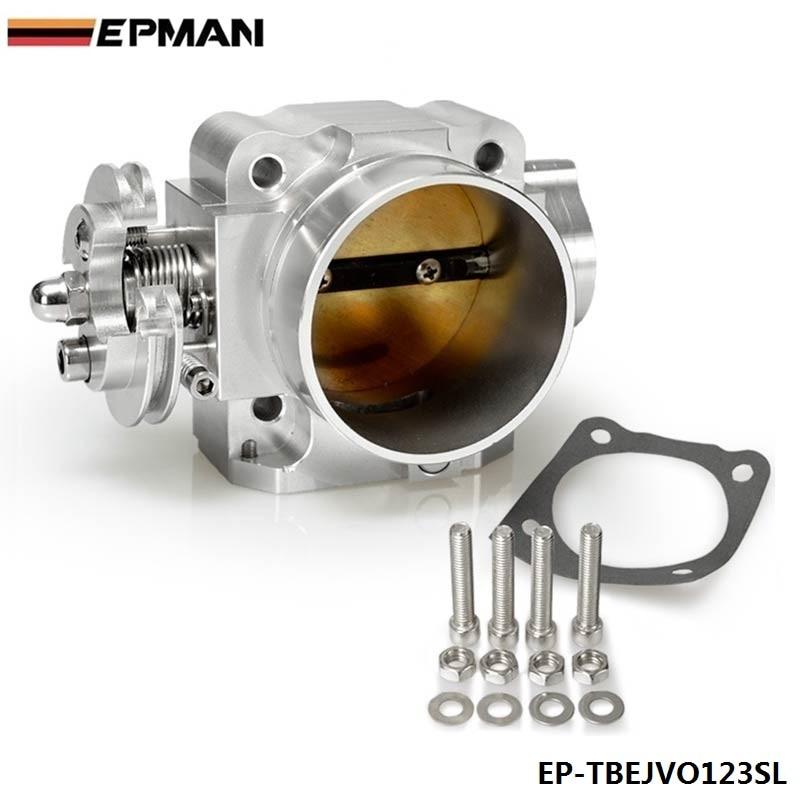 Для Mitsubishi Lancer EVO 1 2 3 4G63 впускной коллектор дроссельной заслонки 70 мм 92-95 Серебряный EP-TBEJVO123SL