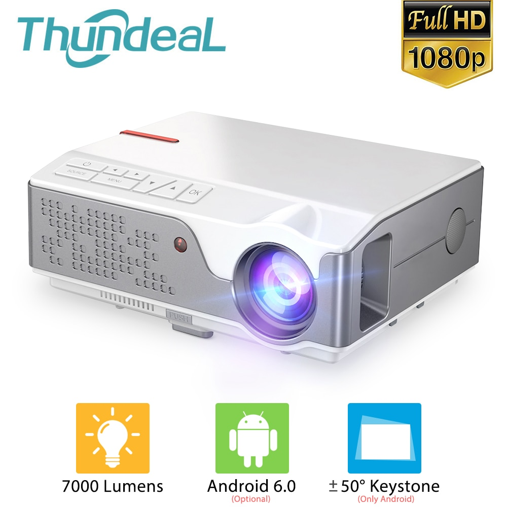 ThundeaL Full HD nativa de 1080P TD96 LED Mini Proyector portátil WiFi...