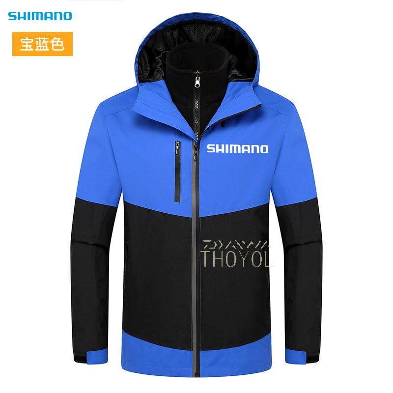 Shimano Fishing Clothes Waterproof Winter Fishing Jacket Men Hooded Windproof Fishing Clothing Outdoor Hiking Warm Fishing Wear enlarge