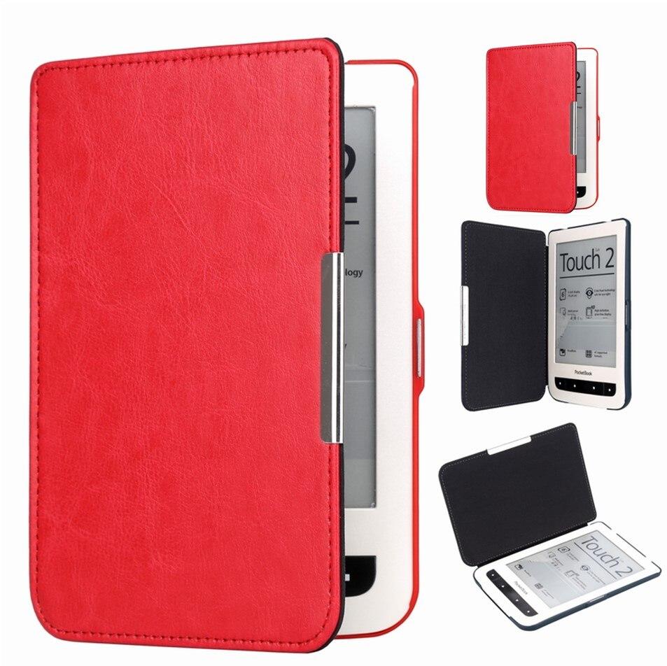 Funda magnética Gligle para Pocketbook 614/624/626 Touch Lux2 de piel sintética funda para E-book Auto Sleep/Wake UP + película de pantalla + pluma