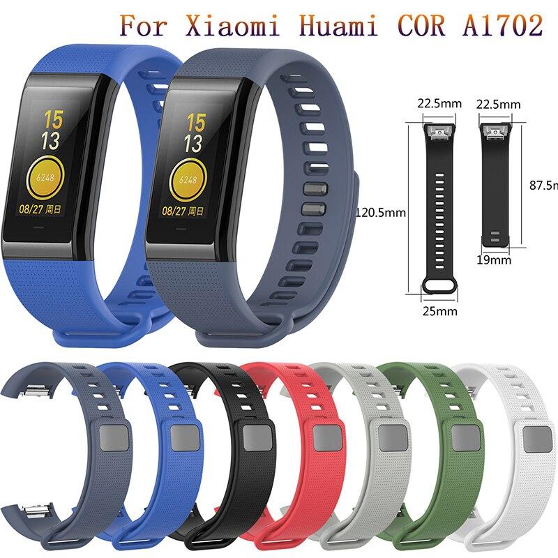Ремешок сменный для часов Huami COR, мягкий силиконовый удобный цветной браслет для Xiaomi Huami Amazfit Cor A1702, браслет