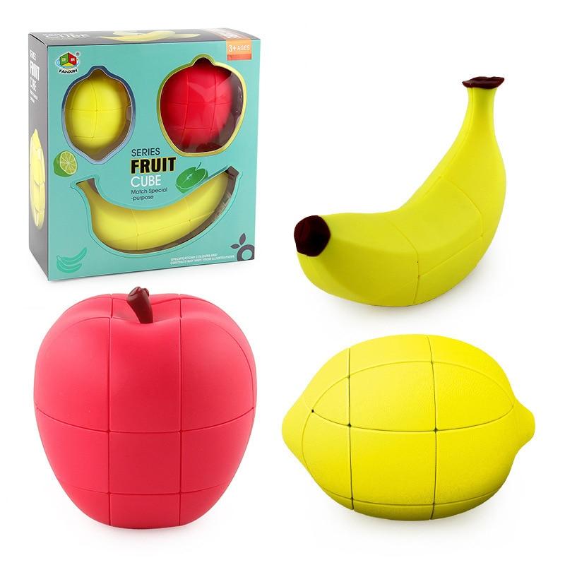 кубик рубика Волшебный куб головоломка Фрукты Банан яблоко лимон 2 x2x3 неравная специальная милая форма игрушки куб профессиональные развивающие игрушки cubo magico