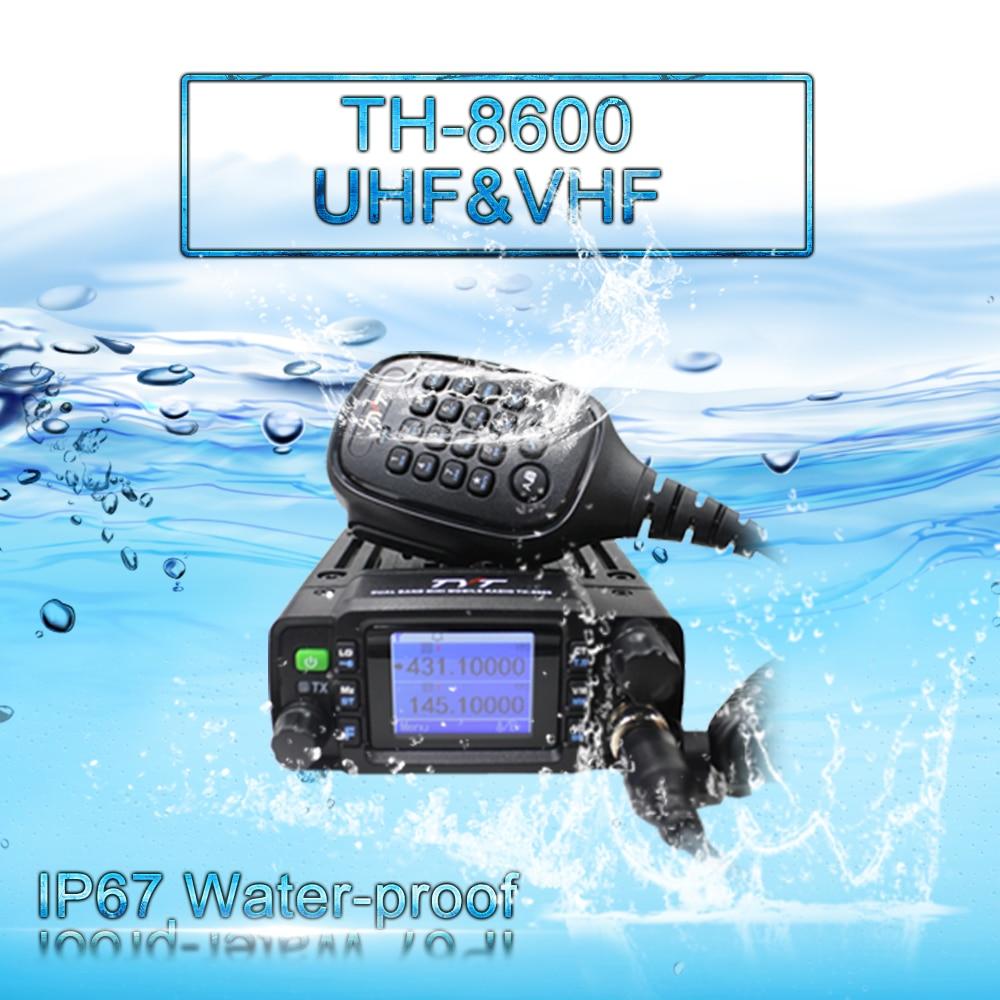 TYT TH-8600 IP67 للماء المزدوج الفرقة 136-174MHz/400-480MHz 25W سيارة راديو هام راديو المحمول مع هوائي كليب جبل برنامج كابل