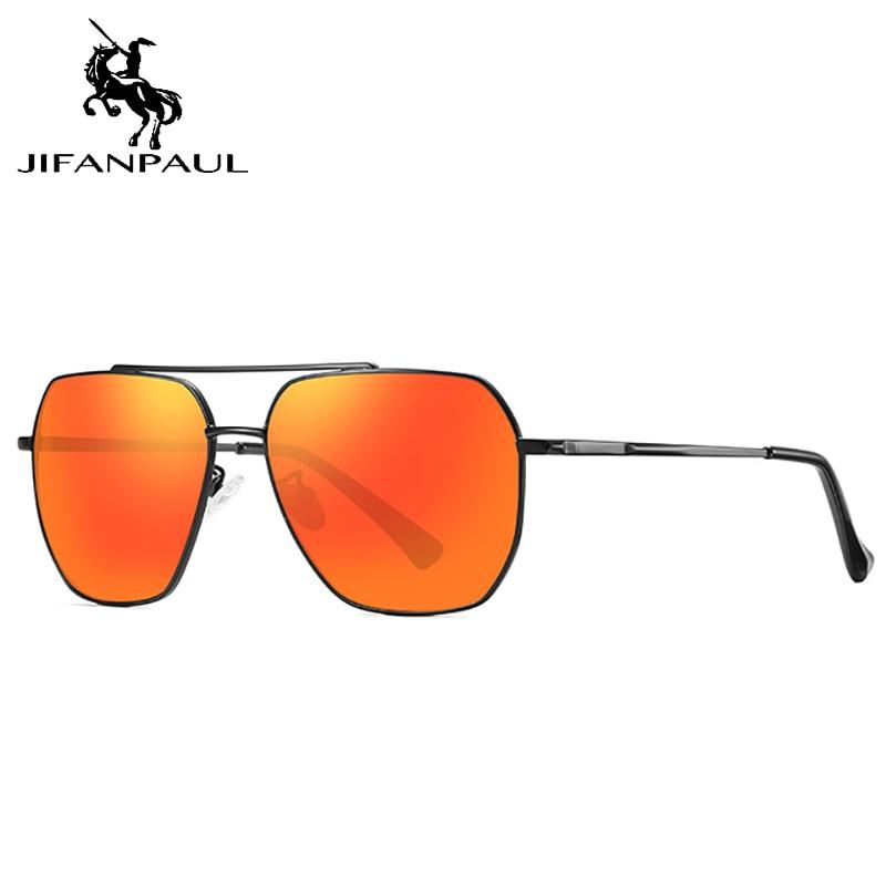 Мужские и женские солнцезащитные очки JIFANPAUL, круглые солнцезащитные очки для вождения, поляризационные очки, бесплатная доставка