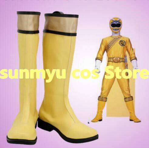 أحذية Hyakujuu Sentai gaorange قاو أصفر النسر النبيل أحذية تأثيري مقاس مخصص للهالوين