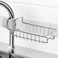 Evier de cuisine en acier inoxydable  organisateur de robinet porte-evier etagere savon eponge panier de vidange  support de rangement de salle de bains
