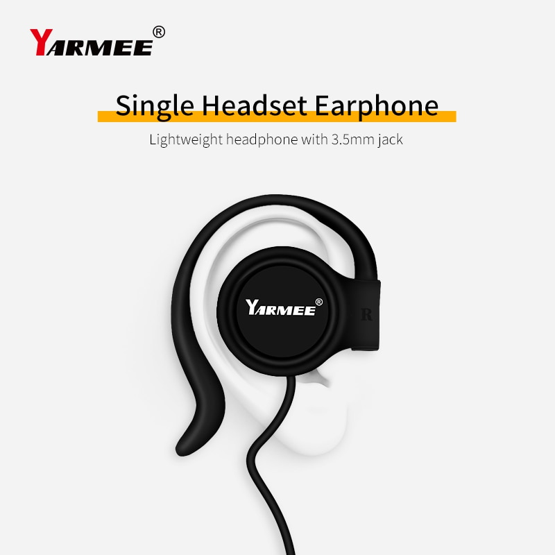 Wholesale Price!! A Lot 3.5mm Jack Plastic Wired Single Earphone Headphone Single Ear Hanging For Tour Guide Equipment enlarge