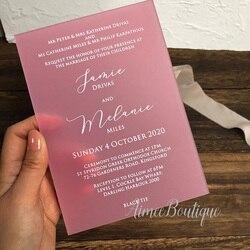 Amostra de convite de casamento