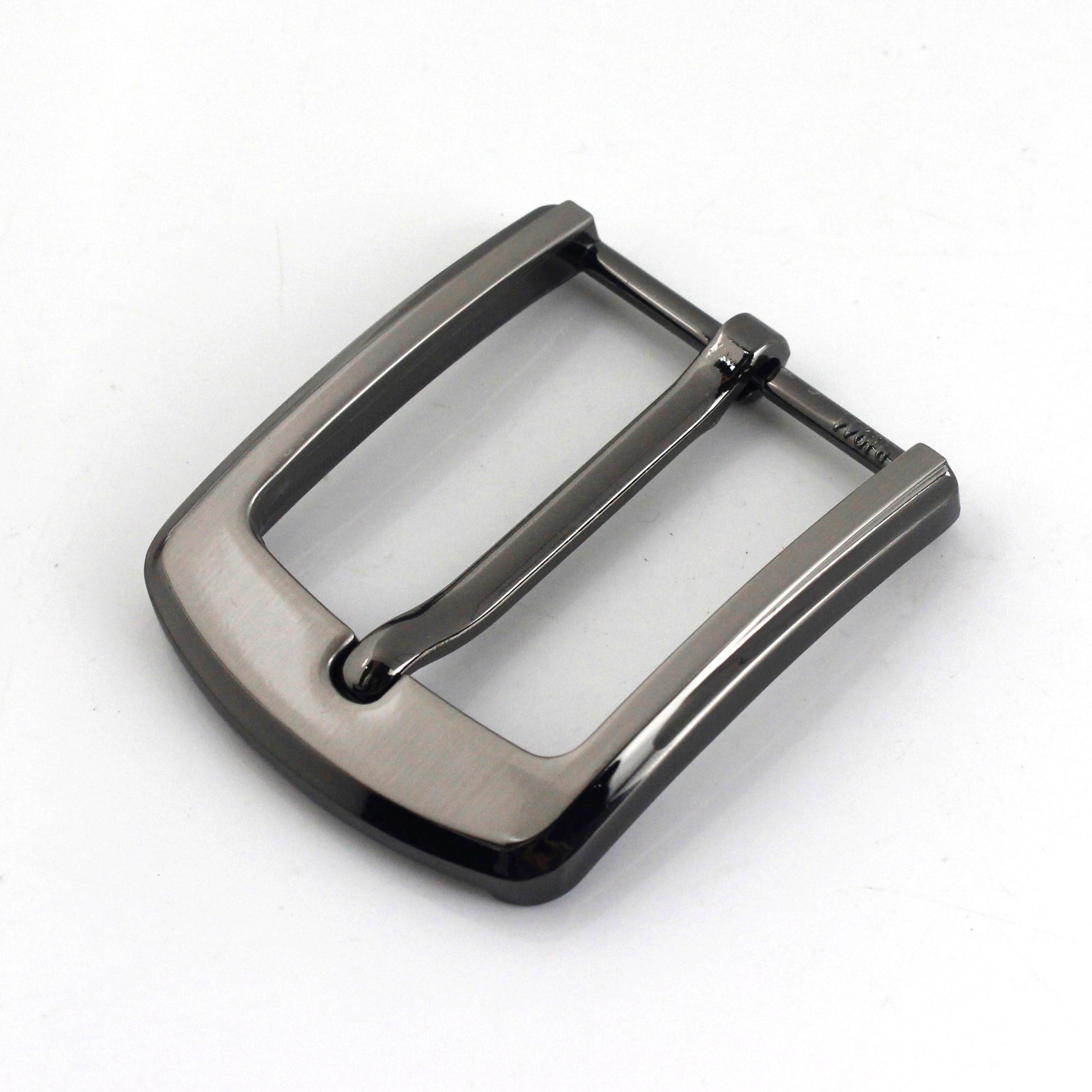 1 шт. 40 мм металлическая мужская повседневная пряжка для ремня лазерная печать Концевая штанга Пряжка для каблука с одним язычком половинчатая Пряжка кожаная Ремесленная тесьма