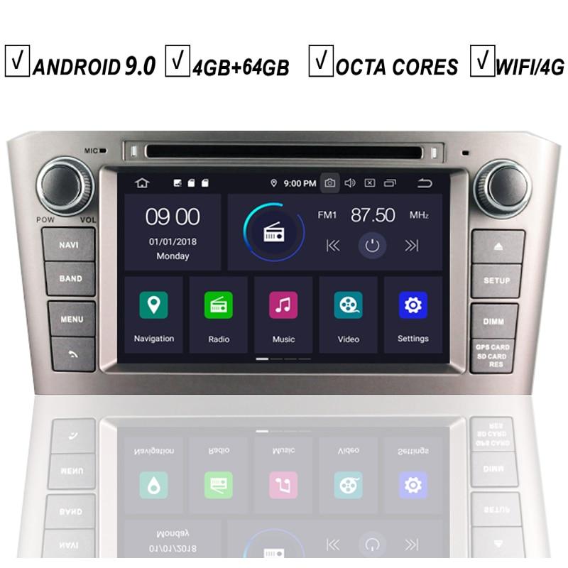 Coche Android 9,0 reproductor de DVD GPS para Toyota Avensis T25 2003, 2004, 2005, 2006, 2007, 2008 Octa Core 4GB + 64GB Radio BT Wifi DAB + ESTÉREO