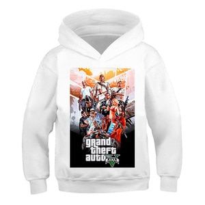 Kid Sweatshirts3-14Kids boys Children Winter Spring Autumn grand theft auto Hoodies Long Sleeves T-shirt Jacket Toddler Clothes