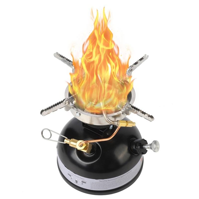 Nueva estufa de aceite multicombustible para acampar al aire libre, Mini estufa de gasolina portátil, horno de aceite y Alcohol líquido, estufa de Picnic