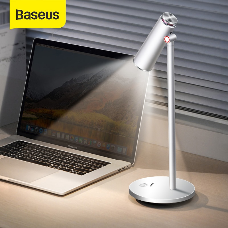 Baseus-مصباح طاولة i-wok LED ، قابل لإعادة الشحن عبر USB ، مع حماية العين ، للقراءة أو المكتب أو العمل