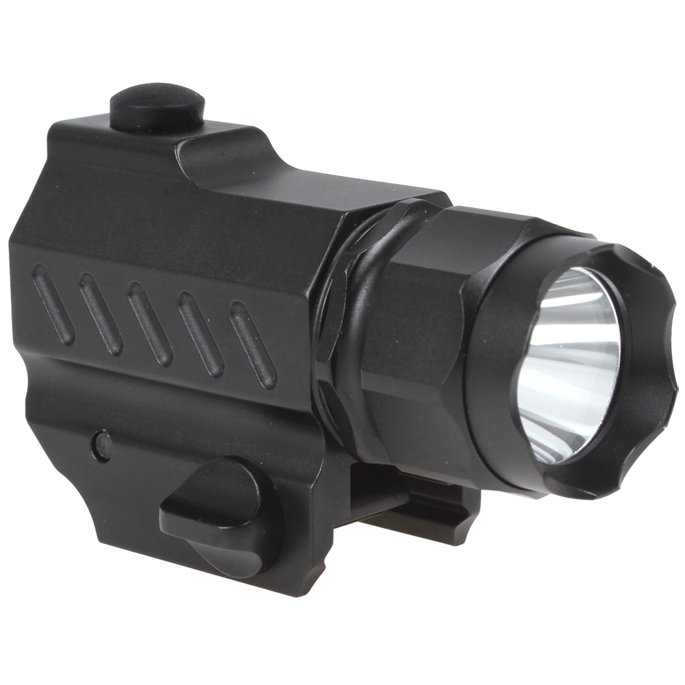 SecurityIng 5W 400 Lumens Mini XP-G R5 LED High Power Gun Mounted Tactical Flashlight with 3.0V 800mA CR2 Battery enlarge
