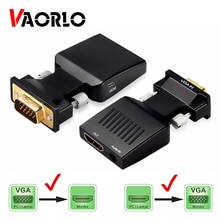 VGA to HDMI-compatible Converter Adapter 1080P VGA Adapter For PC Laptop to HDTV Projector Video Aud