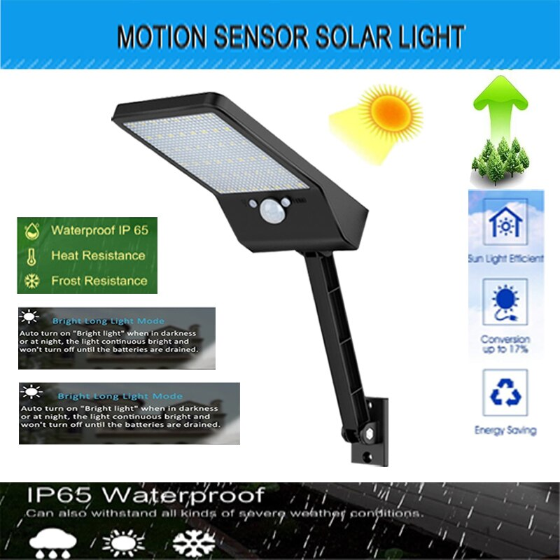48 led Super Bright Waterproof PIR frared Sensor Floodlight LED Lamp For Outdoor Lightg remote contr