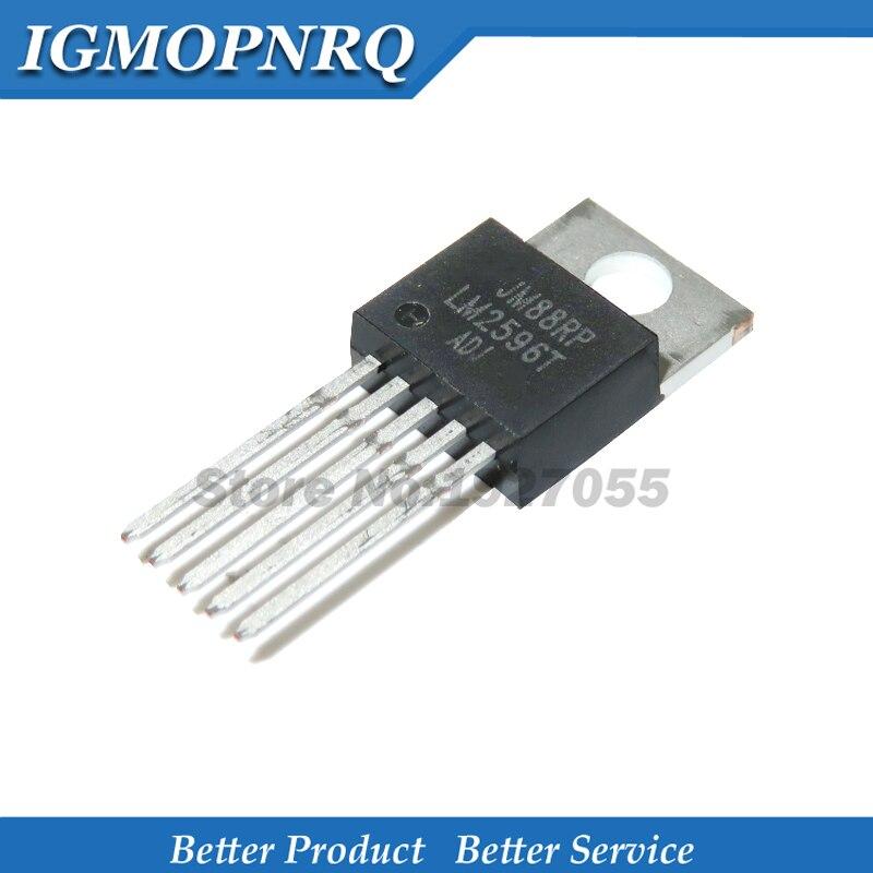 Regulador de tensão dc-dc lm2596t lm2596 2596t-adj, estabilizador de tensão de comutação ajustável lm2596t com 10 peças 220-5