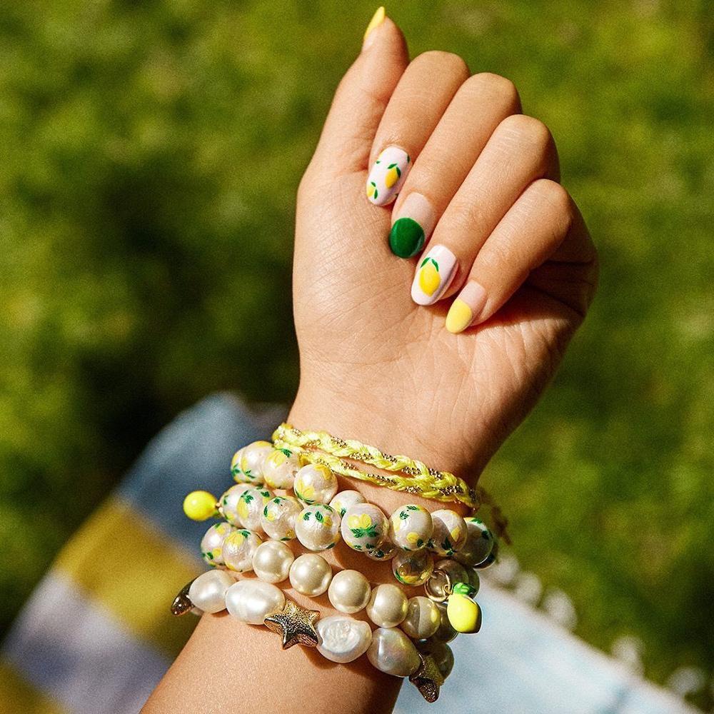 Las mejores pulseras de perlas simuladas de piña bohemias para mujer para fiesta de boda a la moda cereza estrella chica regalos pulseras de encanto