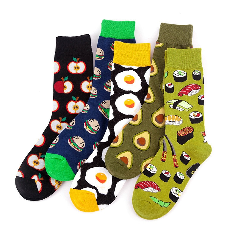 5 Pairs/Lot  Spring Autumn Socks For Men And Women Cylinder Ins Couples Tide Male Female Harajuku Socks Basketball Stockings