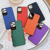 luxury candy color skin feel pc phone case for iphone 11 128gb pro x xs max xr se 2020 7 8 plus back cover strong anti drop
