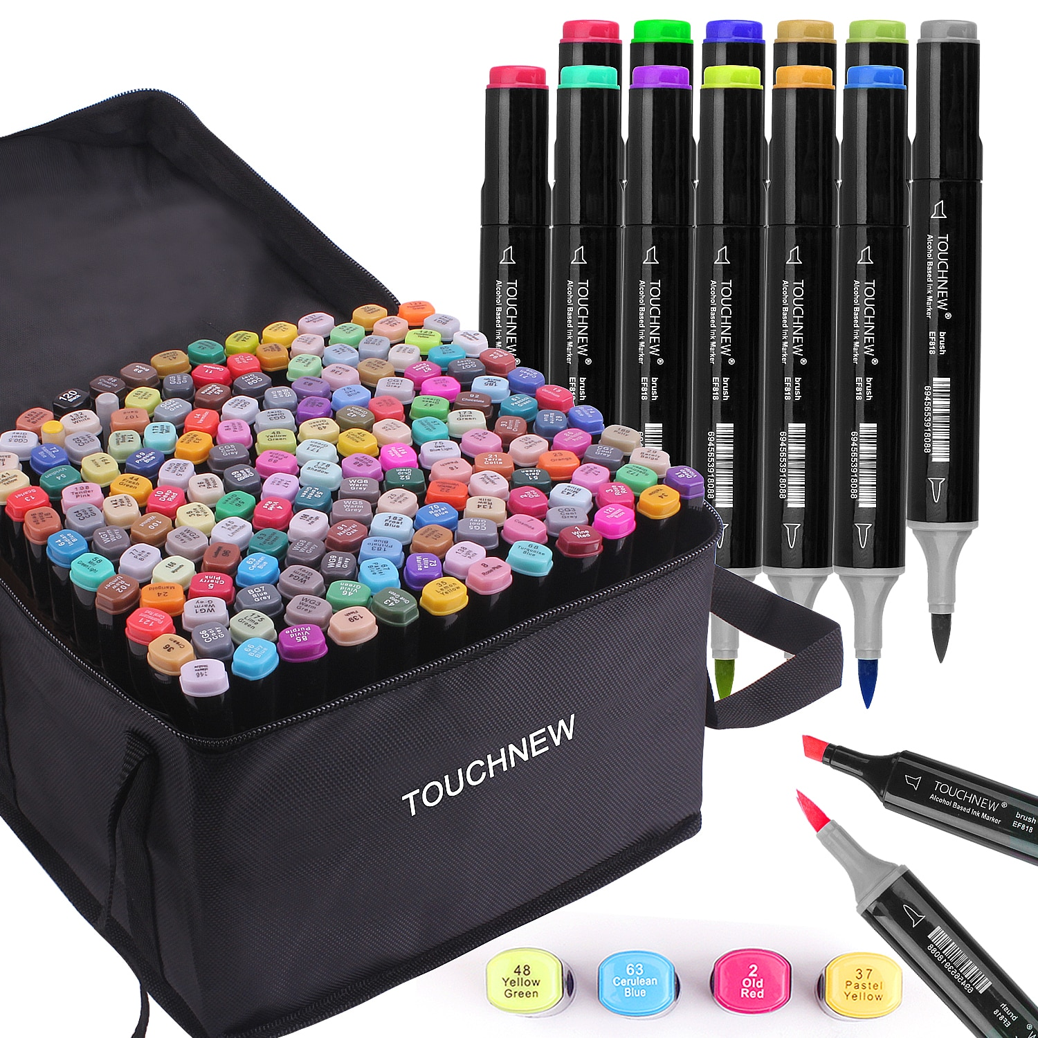 TOUCHNEW 12/30/40/60/80/168 Markers Set Soft Brush Markers Alcohol Based Markers Manga Drawing Animation Art Supplies