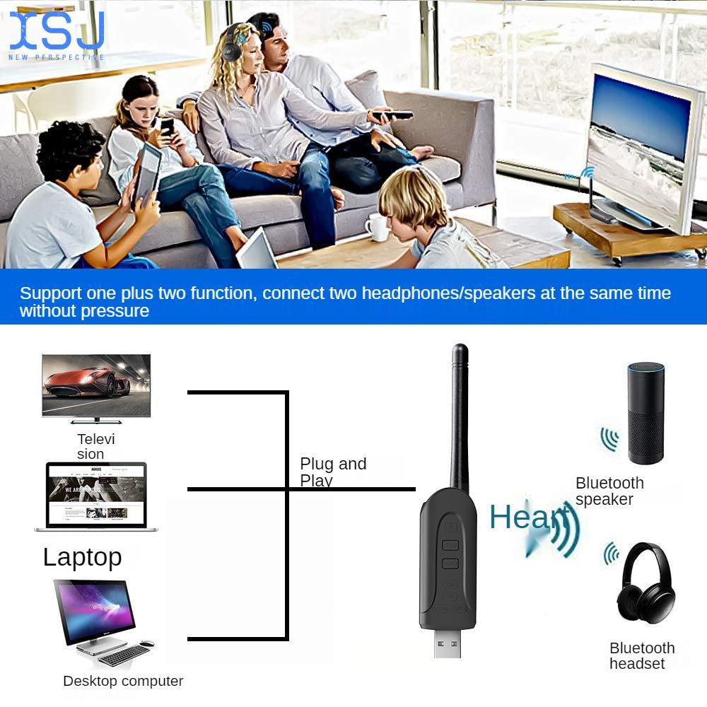 5.0 Bluetooth Csr8670 One To Two Usb Bluetooth Transmitter Aptx Tv Computer Audio Transmitter enlarge