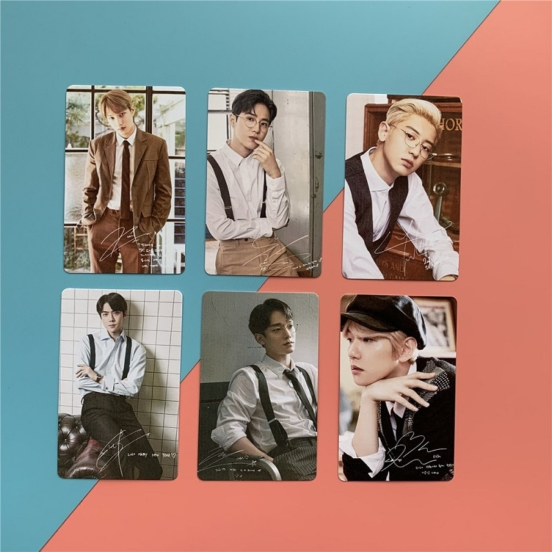 kpop rose on the ground peripheral small card random card lomo card postcard park chae young solo hot sale KPOP EXO Random Small Card Photo LOMO Card Bian Bo Hyun BAEKHYUN Postcard Peripheral SEHUN Collection Card Hot Sale
