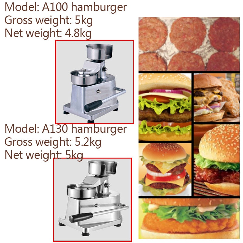 Multi-functional Stainless Steel Burger Meat Patty Forming Machine For Sale enlarge