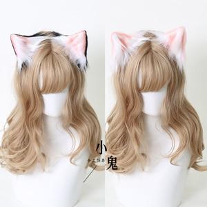"""Заколка для волос ручной работы с животными для косплея, Шпилька для волос с милыми кошачьими ушками, пара зажимов, милая плюшевая боковая заколка в стиле """"Лолита"""", мягкие Аксессуары для девушек из аниме"""