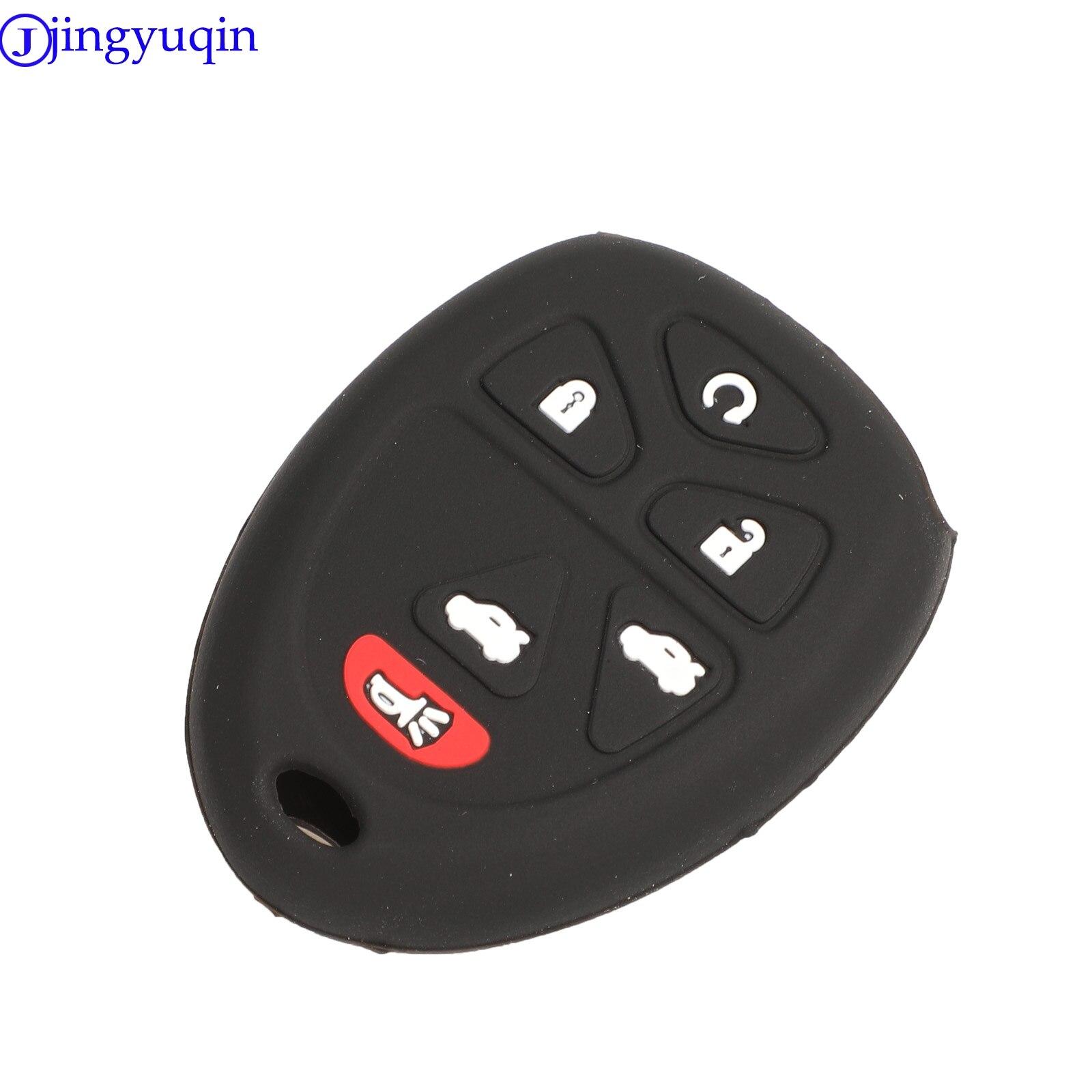 Jingyuqin 6B funda de silicona para la llave del coche para Acadia/Traverse/Yukon/Chevrolet/Gmc/Cadillac/Buick cubierta de Shell