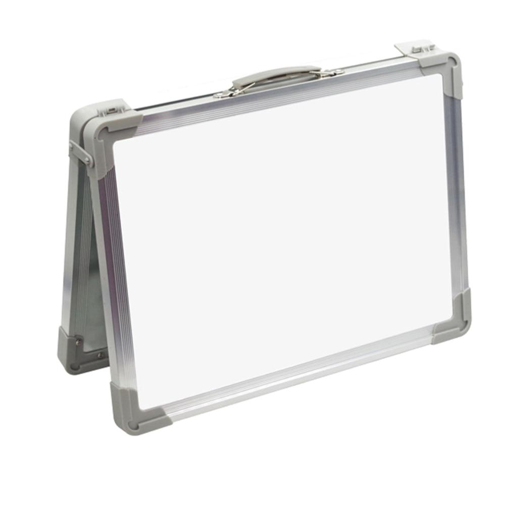 Magnetic Portable White Board Double-sided Desktop Foldable Whiteboard Easel