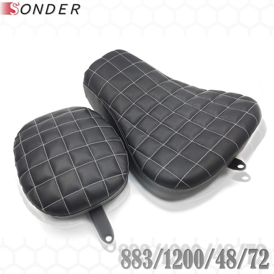 Amplia funda de cojín Vintage para asiento trasero de pasajero para Harley Sportster XL 1200 883X72 48 XL883 XL1200 X48