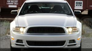 For Ford Mustang 2013 2014 High Quality ABS Front Middle Grille Racing Grill Front Bumper Grill With LED Lights