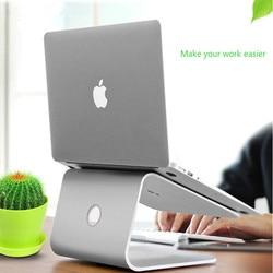 Suporte ergonomicamente aprimorado do portátil do suporte do portátil da liga de alumínio para o macbook ar pro suporte desktop base levantada