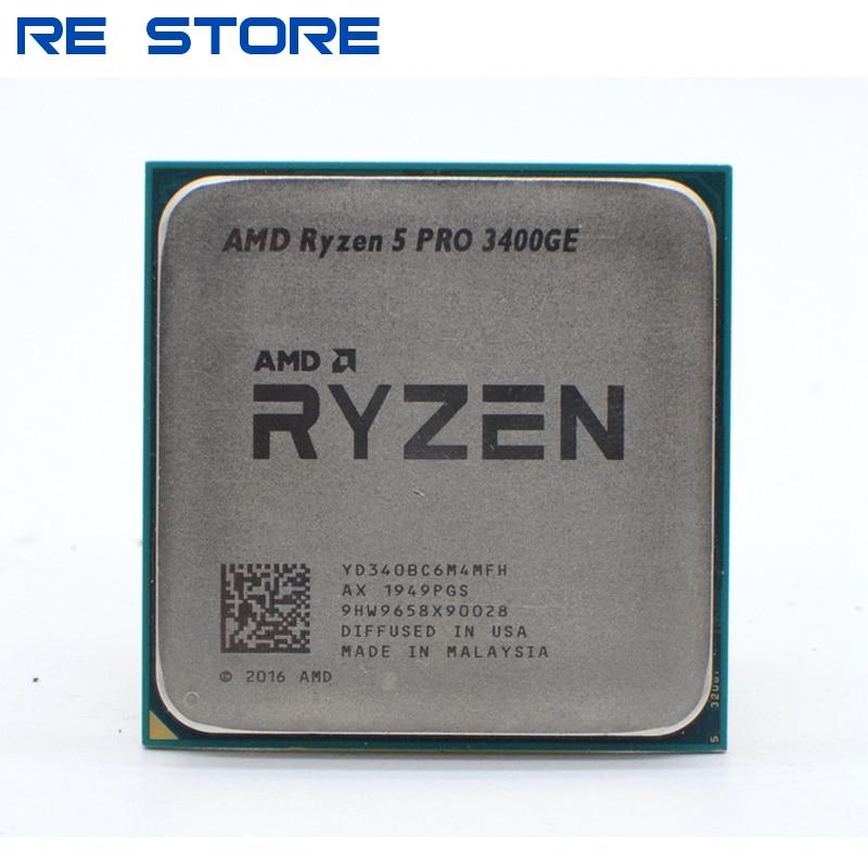 AMD Ryzen 5 PRO 3400GE R5 PRO 3400GE 3,3 GHz Quad-Core ocho-Hilo de 35W CPU procesador YD340BC6M4MFH hembra AM4