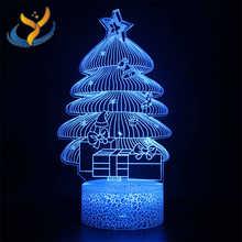 Цветная сенсорная маленькая настольная лампа, 3D креативный прикроватный светильник, праздничная атмосфера, визуальный ночник