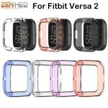 Housse de Protection pour Fitbit Versa 2 bracelet boîtier souple montre cadre pour FitBit Versa montre 2 accessoires écran étui de Protection