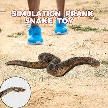 Toys For Children Realistic Fake Rubber Toy Snake Brown Fake Snakes Preschool Toys Kids Toys Baby Toys Juguetes para ninos