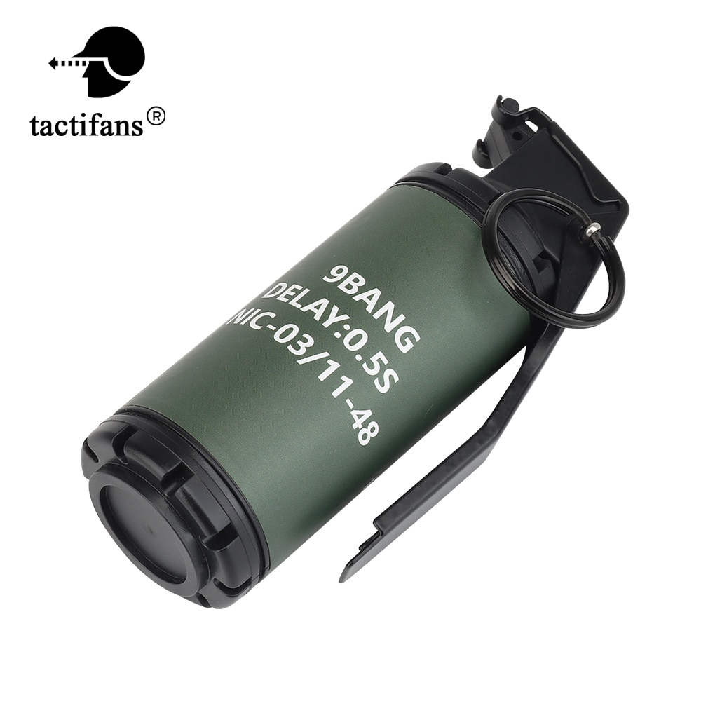 Tactical Flash 9 Bang Grenade Dummy Model Molle System Frag Gren Costume Military Airsoft Shooting P