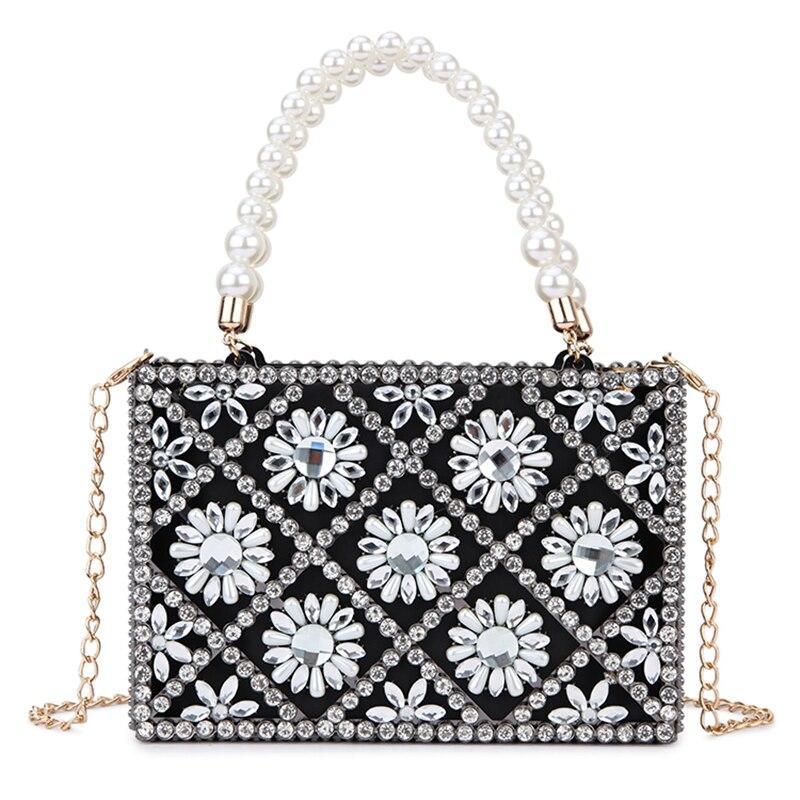 حقيبة يد نسائية من حجر الراين ، حقيبة قفص معدنية ، حقيبة سهرة نسائية من الكريستال ، حقيبة يد فاخرة مصممة لحفلات الزفاف