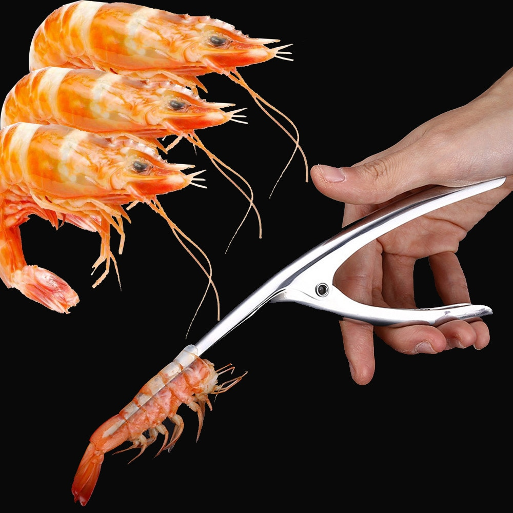 Shrimp Peeler Stainless Steel Shrimp Prawn Peeler Shrimp Deveiner Creative Kitchen Cooking Seafood Tools Kitchen Gadgets